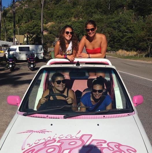 Hire a 'barbie' car in Maggie Island!