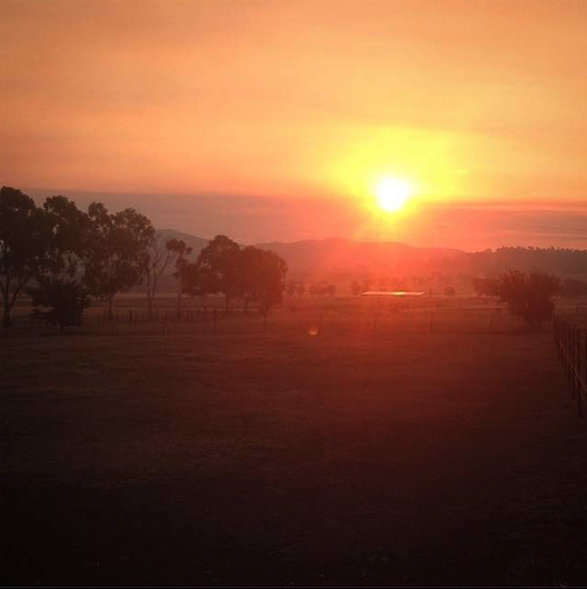 The countryside in regional NSW is beautiful
