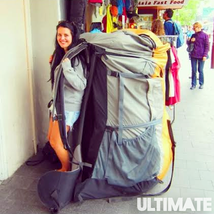 Pack light when you're backpacking