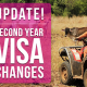 Update to 2nd year visa changes