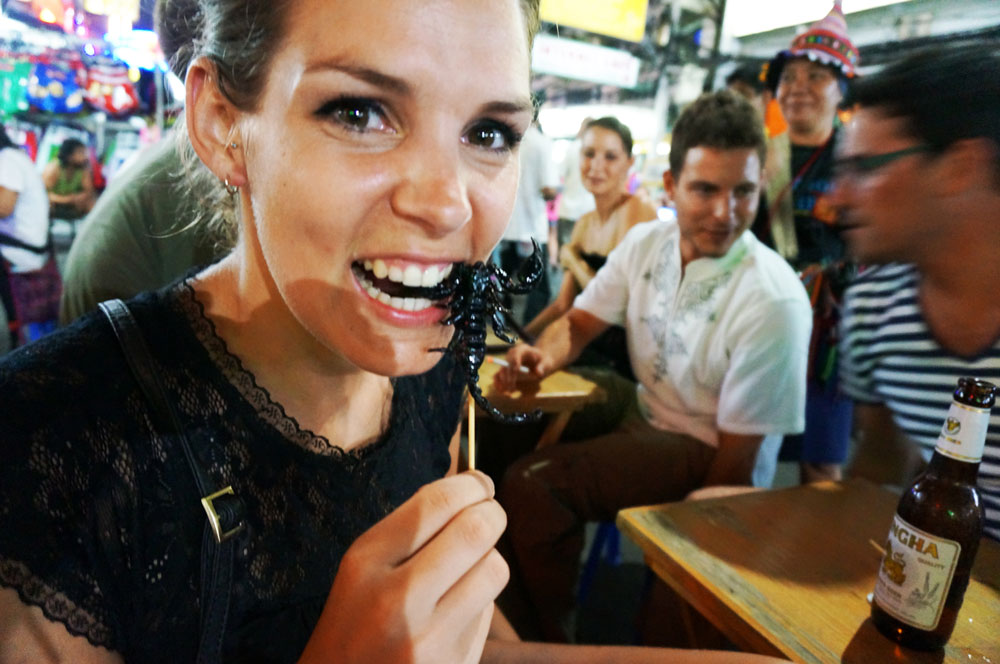 Scorpion is a delicacy in Thailand